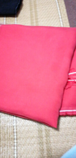 重磅纱铜氨丝布料  服装面料复古真丝秋季夏季舒适连衣裙布料 砂洗面料 diy布料服装面料 56大红 晒单图