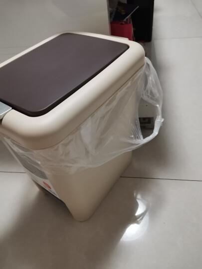 飞达三和 垃圾桶脚踏带盖家用分类大号塑料桶垃圾袋厨房卫生间厕所手按垃圾篓 卧室通用【8L】 晒单图