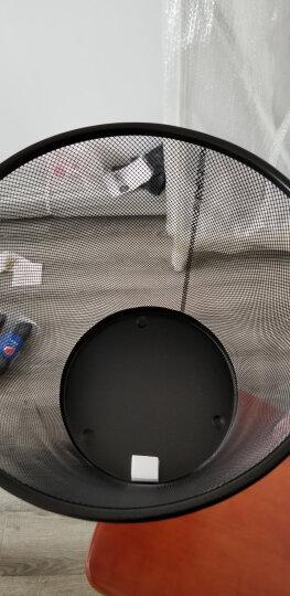 家杰优品金属丝网垃圾桶大号φ295mm干湿分类稳固垃圾篓办公室居家黑色纸篓JJ-104 晒单图