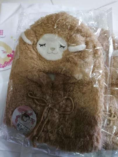 LIV HEART 日本冬季保暖围巾帽围脖造型小羊头饰头套送女孩子礼物外出防风 白色 晒单图