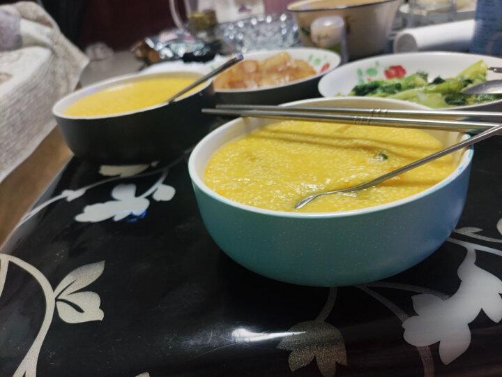 亿嘉IJARL 剑林创意日韩欧式陶瓷器餐具小汤碗大米饭碗6英寸家用碗甜品碗法海钵 北欧印象 2只装 黑白 晒单图