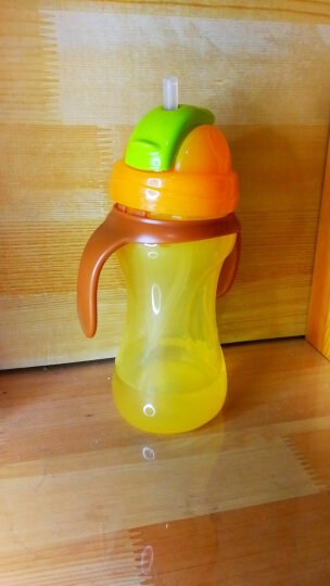 贝亲(pigeon) 吸管杯 双把手 婴儿水杯 儿童水杯 宝宝水杯 芒果黄 9个月以上 300ml DA89 晒单图