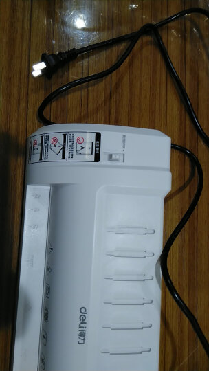 得力(deli)3893 适用A4简洁时尚静音型塑封机/过塑机 银灰 晒单图
