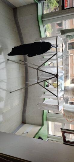 晾衣架 折叠落地伸缩挂衣架阳台晒衣架x型不锈钢卧室晒被架室外晒衣服架子3020 晒单图