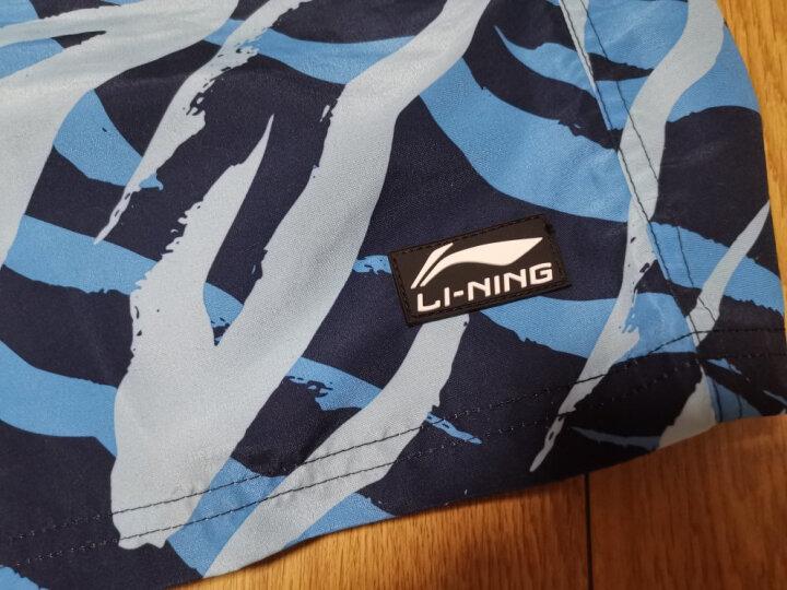 李宁(LI-NING)沙滩裤 五分泳裤 男士度假温泉泳衣 沙滩运动短裤9212 L码 晒单图