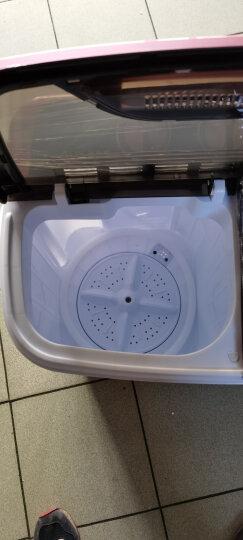 奥克斯(AUX)洗衣机小型迷你婴儿童宝宝内衣裤洗脱一体家用波轮半全自动双桶双缸大容量宿舍出租房 蓝色 晒单图