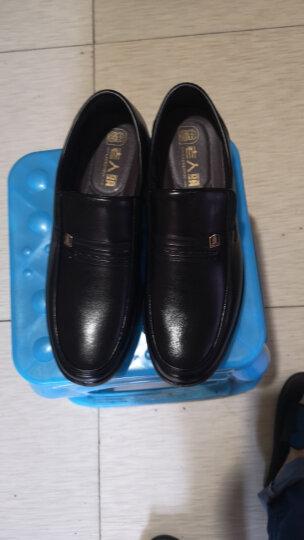 老人头(LAORENTOU)皮鞋男士商务鞋套脚舒适正装皮鞋 LJD587 黑色 40 晒单图
