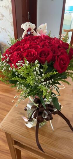 中礼鲜花速递 同城送花 全国预定 生日礼物19朵玫瑰花礼盒 康乃馨每周一花满天星北京上海 33枝香槟玫瑰花束-送闺蜜 平日价 晒单图