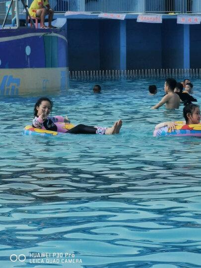 宜肤潜水服女分体韩国水母浮潜服长袖冲浪套装泳衣学生温泉瑜伽服漂流衣 黑色 L 晒单图