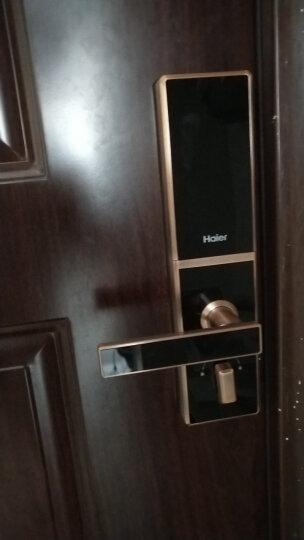 海尔(Haier)指纹锁智能锁电子锁密码锁家用防盗门锁门禁锁大门锁锁芯防盗锁左右开HL-31PF3 31红古铜荣耀版+100万保险+三年质保+免费安装 晒单图