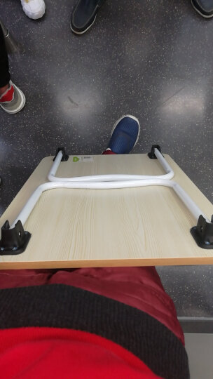 倍方电脑桌W腿苹果木色 简易笔记本电脑桌 床上用宿舍懒人桌 简约可折叠学习书桌 家用小餐桌 家用榻榻米小桌 晒单图