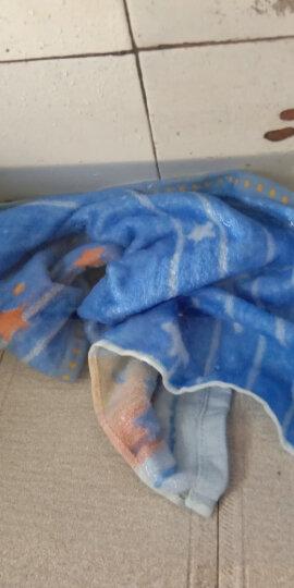 沐凡 枕巾 纯棉加厚 一对2条装柔软透气全棉卡通情侣枕头巾礼品 美满粉红一对 50*75cm 晒单图
