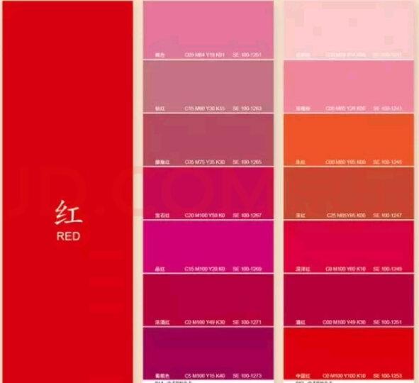 中式传统色卡国际通用色卡本样板卡服装色卡配色手册中式RGB配色书谱国际标准印刷四色色卡CMYK色卡C 晒单图