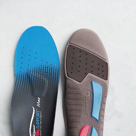 spenco鞋垫 男女扁平足矫正足弓支撑吸汗跑步运动鞋垫 黑色 3号码适用41-43的鞋子 晒单图