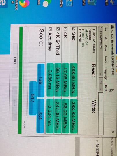 创见(Transcend) 128GB SSD固态硬盘 SATA3.0接口 340K系列  MLC颗粒 晒单图