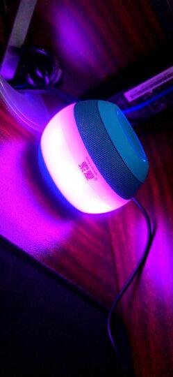 索爱(soaiy) S-45无线蓝牙音箱迷你低音炮七彩灯效电脑小音响家用户外便携手机智能插卡车载大音量 天空蓝 晒单图