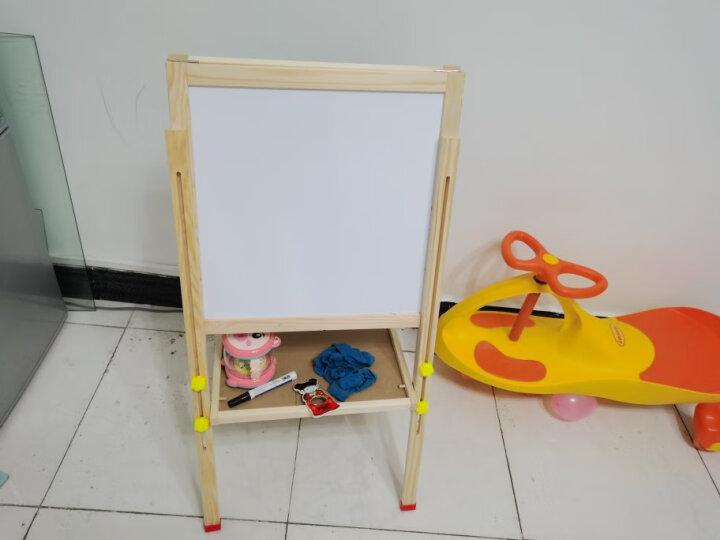 喜贝贝儿童画板画架实木可升降磁性写字板小黑板支架式磁性画板宝宝画画工具套装 8288蜜蜂粉色+豪华礼包 晒单图