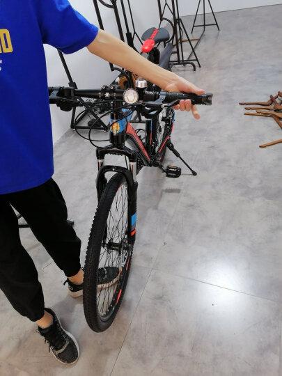 永久山地自行车26寸/27.5寸男女公路越野城市学生成人铝合金27级变速线油碟刹单车 上海厂家直送 红蓝色 27.5寸标配线碟 热卖 晒单图