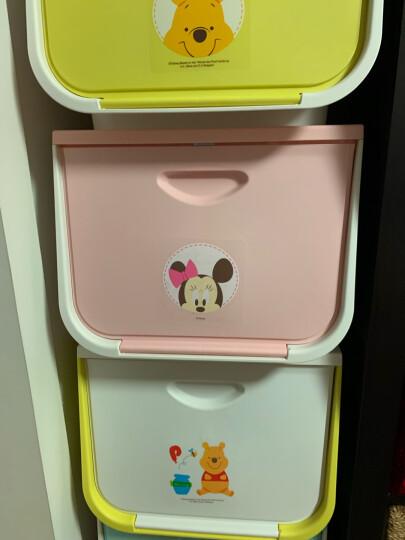 爱丽思IRIS 迪士尼前开式卡通收纳箱塑料翻盖整理箱大号叠加储物箱收纳盒 L维尼黄色 L:42x54x31.3cm 晒单图