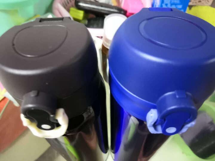 富光 轻量级便携不锈钢真空保温杯 时尚车载单手弹盖水杯 男女士学生直饮杯子 480ml 绿色(WFZ1011-480) 晒单图