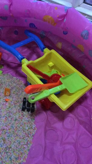 儿童大号沙滩推车玩具车套装宝宝玩沙子挖沙漏铲子工具决明子建雄123456789 小推车大铲沙漏12件套 晒单图