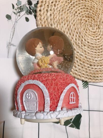 色豆 520情人节母亲节礼物水晶球音乐盒八音盒 公司年会创意礼品生日礼物 送女友小孩子 独角兽彩虹大号(七首钢琴曲/七彩灯光/自动喷雪) 晒单图