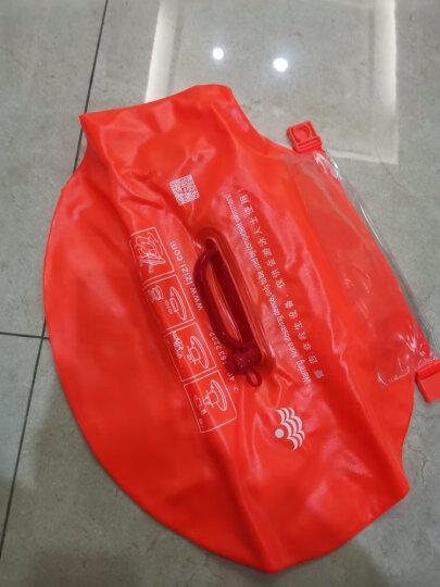 浪姿跟屁虫 双气囊游泳包 可装衣物  浮潜装备 橙色 晒单图
