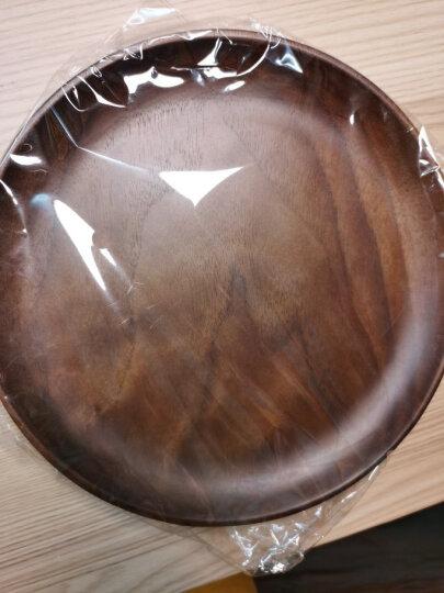 朵颐 日式黑胡桃小餐盘圆形早餐盘木质托盘家用创意西餐点心盘子实木茶盘寿司盘子 圆润大号 晒单图