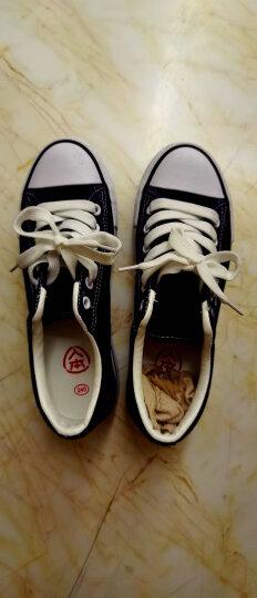 人本帆布鞋女厚底布鞋松糕跟小白鞋牛仔休闲鞋女百搭学生1992鞋子(偏小半码) 中兰(偏小半码) 38 晒单图