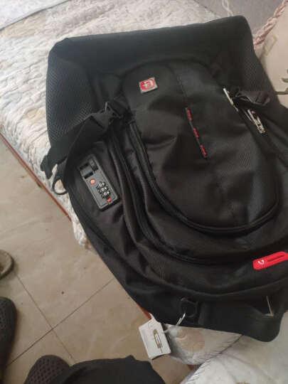 SWISSGEAR时尚双肩包 14.6英寸电脑包男商务背包苹果笔记本包 休闲旅行包学生书包 SA-9911黑色 晒单图