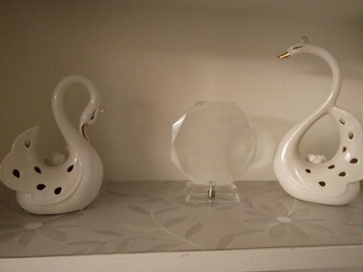 贝汉美(BHM) 创意描金天鹅摆件工艺品 家居客厅电视柜红酒柜装饰品结婚礼物 施华洛天鹅 晒单图