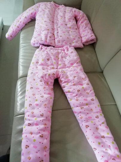 春涛 宝宝手工棉衣 儿童纯棉花婴儿棉袄棉裤套装 幼儿男童女童小孩冬装加厚 粉色套装(闭裆棉裤) 身高120cm 晒单图