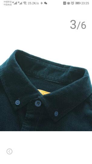 七匹狼长袖衬衫男2020新款纯棉修身衬衣男灯芯绒商务休闲男装 106-紫蓝色 175/92A/XL 晒单图