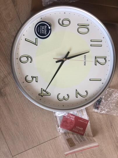 丽声(RHYTHM) 钟表 客厅卧室书房办公室时尚创意个性石英钟表简约挂钟 32cm树脂液晶CFG706NR19 晒单图