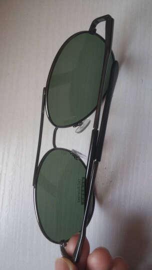 帕杰斯 2021新款偏光太阳镜男女同款驾驶镜时尚情侣墨镜变色眼镜 枪框墨绿片 晒单图