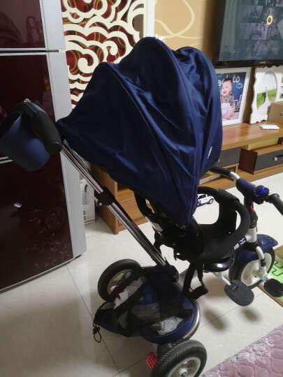 小虎子儿童三轮车脚踏车溜娃神车可折叠躺倒座位转向遛娃车小孩手推车1-3岁T300升级 t300-6星际蓝(折叠款) 晒单图