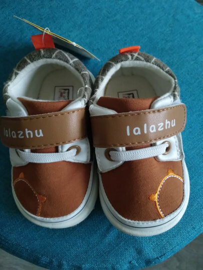 拉拉猪(lalazhu)春秋季新款婴儿学步鞋女童鞋宝宝1-3岁2男童软底鞋子儿童防滑透气单鞋一 咖啡色(加绒款) 16码/内长11.5cm(适合脚长10.5cm) 晒单图