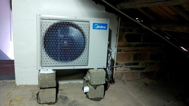 美的(Midea)空气能热水器家用恒温分体式 人体结构空白扇子进风 KF105/260L-MI(E4) 晒单图