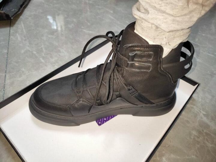HT皓顿 男靴马丁靴男士牛皮拼接高帮鞋时尚靴子男 XZ004黑色 40 晒单图
