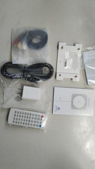 壁挂式CD播放机蓝牙HDMI播放机复古CD机VCD儿童学习DVD光盘专辑播放器影碟机U盘音乐播放机 乐动白色+挂墙支架+钢制桌架 晒单图