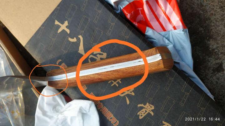 十八子作 -菜刀厨刀刀具砍剁刀砍骨斩骨大骨刀木柄不锈钢刀 S220-2小号 晒单图