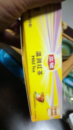 立顿Lipton  红茶 温润红茶叶 斯里兰卡红茶 调味茶冲饮袋泡茶包2g*25 晒单图