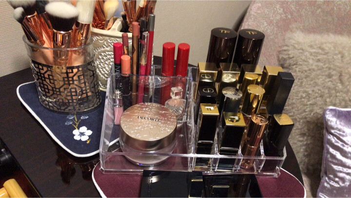 Vilscijon维简透明亚克力收纳盒桌面抽屉式化妆盒梳妆台口红架整理盒首饰盒组合 2232 晒单图