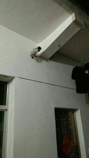 雅视威(YESTV)模拟监控摄像头高清1200线红外夜视摄像机监控器 室外防水工程探头 白光灯日夜全彩四灯枪机-HD9004M 12mm 晒单图