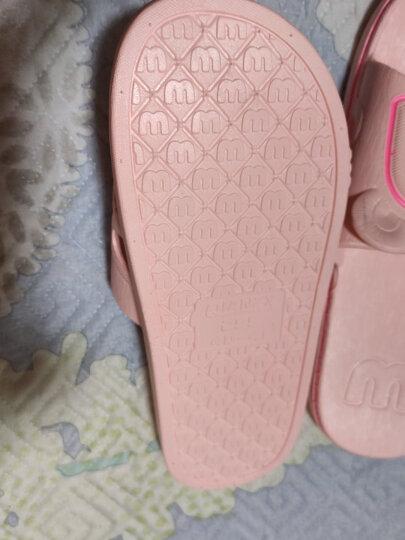 惠夫人浴室拖鞋防滑 洗澡情侣男女居家夏季室内塑料软底家居凉拖鞋 威化格/浅兰 38-39码((适合平常穿37/38码) 晒单图