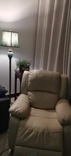 登对(DENGDUI)美式落地灯客厅书房立式台灯创意复古欧式卧室沙发结婚婚庆温馨LED落地台灯灯具 浅黄色-杠杆开关 晒单图