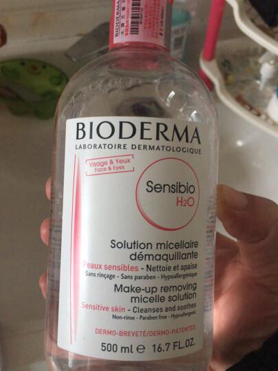 贝德玛(BIODERMA)卸妆水舒妍洁肤液500ml眼唇卸妆液深层清洁卸彩妆粉水 晒单图