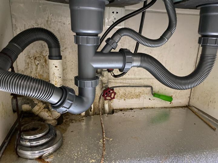 莱尔诗丹(Larsd)9127水槽下水器 洗菜盆 下水 配件 厨房下水管 水槽下水管 双槽 晒单图
