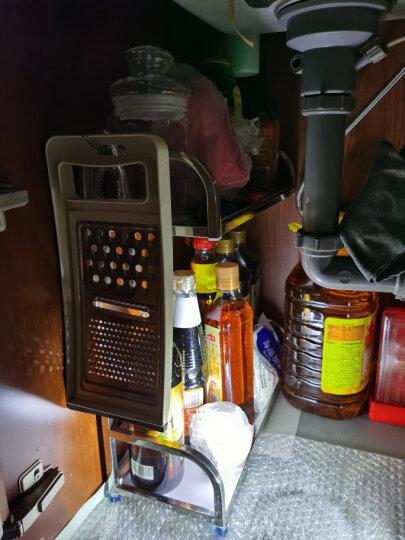 欧润哲 厨房置物架 304不锈钢双层调料瓶架 落地台面厨房收纳架 晒单图