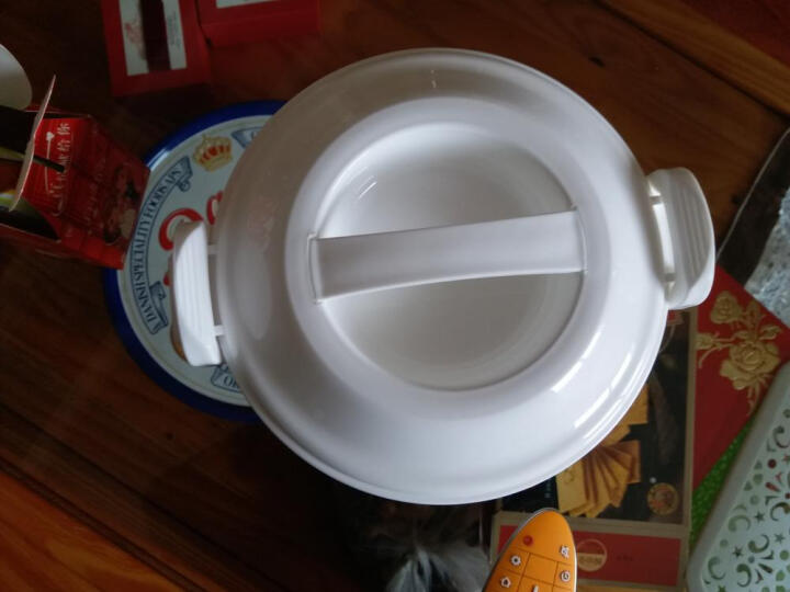 茶花(CHAHUA) 茶花微波炉专用煮饭煲塑料饭锅煮米饭盒可热菜热饭器皿带防溢盖 2L单层煮饭锅(送量杯+饭勺) 晒单图
